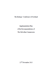 Implementation Plan of Recommendations of the McLellan Report